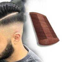 Doppelseitig Anti-statisch aus Holz Bart-Kamm Haar Schnurrbärte Bürste de