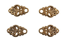 4 Stück (2 Paar) Miederhaken Mieder Dirndl Ösen gold glänzend 25mmx15mm