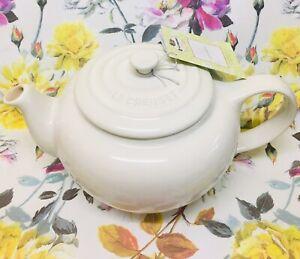 🍃🕊NEW Le Creuset Classic Teapot  Almond/White Stoneware  1L RRP £47🕊🍃