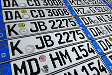 ORIGINAL German License Plate Mitsubishi Audi BMW Mercedes Benz Porsche VW Volvo