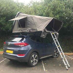 Granite Grey RoofTrekk 4 Person Hard Shell Roof Top Tent