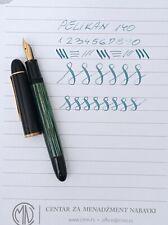 PELIKAN 140 Green Started Fountain Pen Flex 14k EF Nib Excellent Vintage
