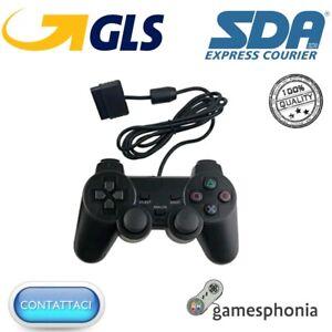 CONTROLLER PAD SONY PLAYSTATION 2 COMPATIBILE PS2 COLORE NERO