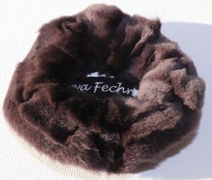Mink Hair Bands Fur Velvet Mink Bracelet Cuff Fur Shorn Grooves Dark Purple