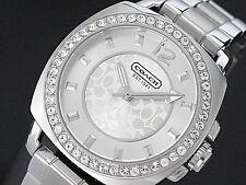 NWT Coach Women's Watch Silver SS Bracelet & Glitz Small BOYFRIEND 14501699 $250
