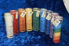 Votiv Kerzen in den 7 Chakra Farben Duftkerzen in Geschenkpackung Aromakerze