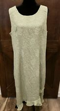 Miss Dorby Size 18 Green Sleeveless Dress (Lot726)