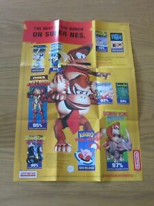SUPER NINTENDO / GAMEBOY BEST OF THE BUNCH DOUBLE SIDED POSTER