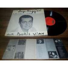 SERGE REGGIANI - Chante Boris Vian LP French Pop folk Jacques Canetti