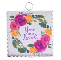 Round Top Collection NWT - Mini You Are Loved Print - Metal & Wood