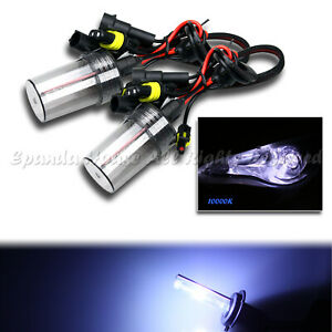 2 X 9005 HB3 FOG LIGHTS AC 10000K OCEAN BLUE XENON HID REPLACEMENT BULBS ONLY