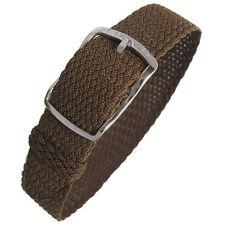 14mm EULIT Kristall Brown Tropic Woven Nylon Perlon German Made Watch Band Strap