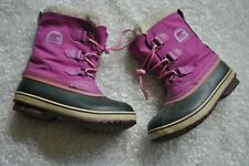 Sorel Youth Girls Yoot Pac Pink Lace Up Boots Sz 2 Youth Winter Insulated