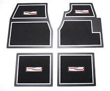 55 56 57 Chevy Black Carpet Floor Mats With Crest Logo