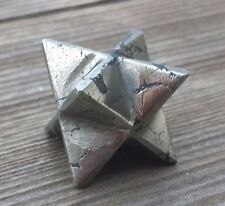 NATURAL PYRITE GEMSTONE MERKABA STAR (ONE) - BUY IT NOW