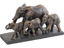Stunning & Detailed Bronze Effect Parade of Elephants Sculpture