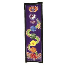 Dipinti A MANO BALI BATIK ARTE, Chakra DROP Banner-Dragon 175x53cm