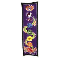 Hand Painted Bali Batik Art, Chakra Drop Banner - Dragon 175x53cm