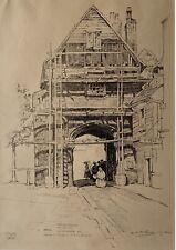 Leslie Moffat Ward R.E. 1888 -1978 lithograph The Gatehouse, Rochester 1922