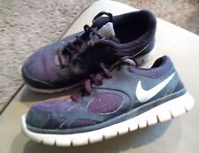 BOY'S SIZE 5 BLACK AND GRAY NIKE SNEAKERS