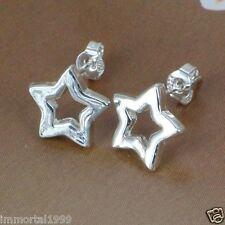 Boucles d'oreilles étoile plaqué argent 925