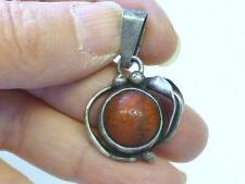 Jasper Sterling Silver Pendant Necklace Poland Vintage Ek Signed Art Nouveau Red