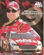 "2013 MARCOS AMBROSE ""MAC TOOLS"" #9 FORD FUSION NASCAR SPRINT CUP SERIES POSTCARD"