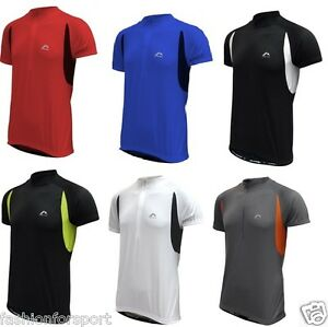 More Mile Mens Cycle Cycling Bike Running Fitness Top Jersey T-Shirt