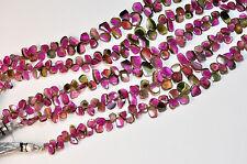 241CT Watermelon Tourmaline Slice Briolette Beads 40 inch strand total