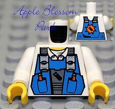 NEW Lego City Worker White MINIFIG TORSO Construction Shirt Miner Tool Vest Belt