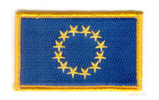 Parche bandera PATCH UE UNION EUROPEA 7x4,5cm bordado termoadhesivo nuevo
