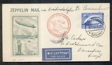 Germany, 1930 So. America Zeppelin Flight cover w/2mk Zepp (#C38/$400) Roessler