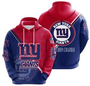 New York Giants Hoodies Mens Casual Sweatshirt Fans Football Pullover Jacket