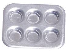 Muffin baking Pan / Tray, Dolls House Miniature, Kitchen Utensil, 1.12 Scale