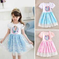 Girl Frozen Dress Costume Disney Princess Queen Elsa Party Birthday size 1-7Yrs