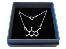 Sterling Silver Teobromin Necklace, Naszyjnik Czekolada Teobromina