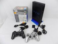 Ps2 Playstation 2 Bundle Fat Console + 2x Genuine Controllers + 15 Games