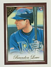 2019 Topps Gallery WOOD BORDER #44 BRANDON LOWE RC Rookie Tampa Bay Rays