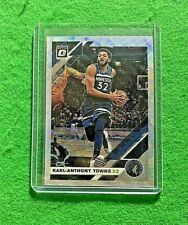 KARL ANTHONY TOWNS PRIZM SILVER WAVE CARD TIMBERWOLVES 2019-20 DONRUSS OPTIC