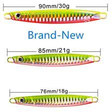5*Jigging Lead Flutter Fishing Lures Metal Jig Hard Baits Sinking Fishing 3D eye