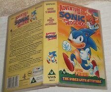 VHS VIDEO  *** ADVENTURES OF SONIC THE HEDGEHOG *** USED CONDITION