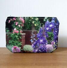 Bolsa de Maquillaje Monedero Cremallera Púrpura Jardín Flor Floral Regalos Damas Cosmético