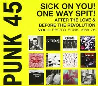SOUL JAZZ RECORDS PRESENTS/PUNK 45:SICK ON YOU!ONE WAY SPIT!  CD NEW+