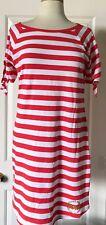 $90 NWT Womens Michael Kors MK Gold Stud Logo Striped Short Sleeve Shirt Dress S