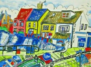 Digital Print of Sheringham Houses View by Ann Marie Whitton