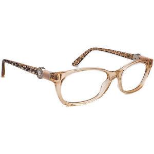 Versace Eyeglasses MOD. 3164 990 Clear Salmon Rectangular Frame Italy 53[]16 135