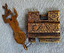 Brass Tricky Puzzle Lock Antique Style Handmade Heavy Tricky Padlock Gifts GT01