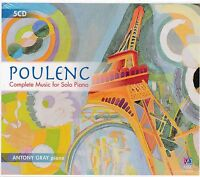 Poulenc Complete Music for SOlo Piano CD NEW Antony Gray