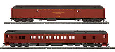 HO MTH Pennsylvania 2 Car Heavyweight Passenger Set for 2 Rail Track 80-40002