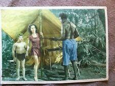 TARZAN SECRE JOHNNY WEISMULLER  JOHNNY SHEFFIELD 14x10 ORIGINAL LOBBY CARD 1940s